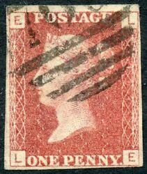 1866 1d Lake-red Die 2 Lc Perf 14 Plate 101 Imperf Used. S.g. 44a.