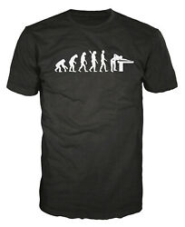 Snooker Player Evolution Funny Pool Billiards 8-Ball Cue Present Gift T-shirt