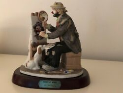 Emmett Kelly Jr Artist At Work Limited Edition, 3770 By Flambro - Full Size