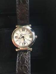 Chopard Ladies Watch OH Battery Replaced Excellent Condition From Japan Used