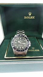 Vintage Rolex  Watch GMT Master 16750 Rare Spider Web Dial Box & Papers