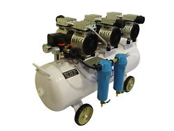 3hp, 18 Gallon, Oil Free And Noiseless Dental Air Compressor W/ 2 Stage Dryer