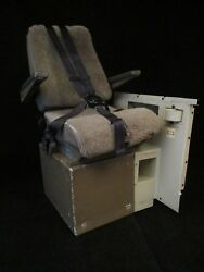 Boeing 747-400 Observer Seat Box Trim And Smoke Goggles From Retired Jet