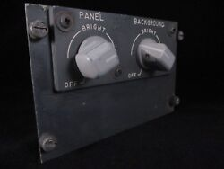 Boeing 737 Light Brightness Control Panel From A Retired Cockpit