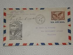 A075 Pilot Signed 1st Flight Cover 3/6/37 Manson Creek- George Canada