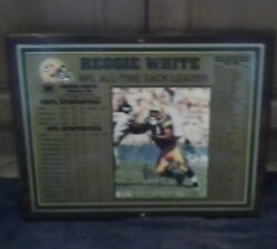 Nfl Green Bay Packers Reggie White All Time Sack Signed Plaque Le 226/1192 W/coa
