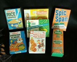 Vintage Toy Food Packaging Boxes 1960s