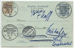 1901 Unique German Naval P/s Postcard From Kirkwall Orkney Islands To Germany.