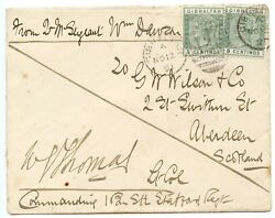 Gibraltar 1891 Cover With 2 X 5c On A Soldiers Letter To Aberdeen Scotland.