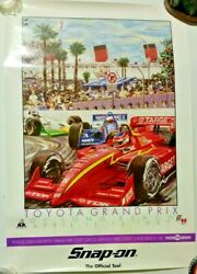 Rare 1997 Toyota Grand Prix Of Long Beach Snap-on Advertisement Event Poster