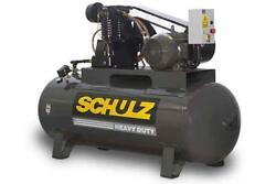 New 7.5hp Schulz V And W Air Compressor Two Stage Elec 1 Ph 230 Vlt 7580hv30x-1