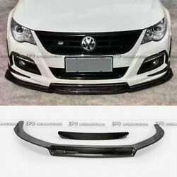 For Volkswagon VW 09-12 Passat CC EPA Front Bumper Lip Carbon Fiber 2Pcs