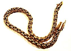 And Co. 7.55 Russian Wheat Link Chain Bracelet 14k Yg Heavy 11.36g 4.5mm