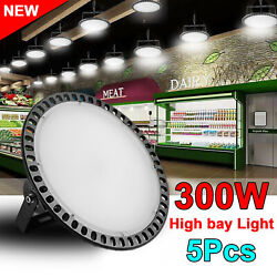 10X 300W 110V LED High Bay Light Warehouse Fixture Factory Industrial Shed Lamp
