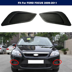 1pair Right Left Front Bumper Fog Light Lamp Hole Cover For Ford Focus 2009-2011