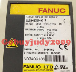 1pc Used Fanuc Servo Drive A06b-6096-h116 Tested It In Good Condition