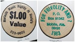 Wooden Nickel ☆ Marioand039s Mobile Al ☆ For Frivolity And 1 Value