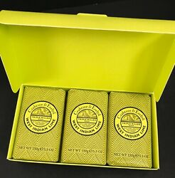 Crabtree And Evelyn West Indian Lime 3 Triple Milled Soap Bars 5.3 Oz Discontinued