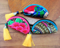 3pc Vintage Indian cosmetic floral hippie Bohemian purse embroidery handbag 1027 $11.69