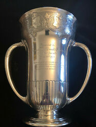 Vintage And Co Cir 1910 Sterling Silver Massive Two-handled Trophy Cup
