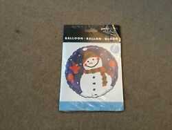 Foil Balloon - Xmas Snowman - 18 Inch - By Party Express / Hallmark - Sealed