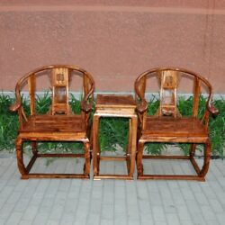 Qing Dy Temple Abbot room HaiNan Huanghuali old-fashioned wooden armchair #042