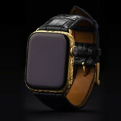 Apple Watch Series 6 44mm Gps+lte Cellular With Sapphire Glass 24k Goldplated