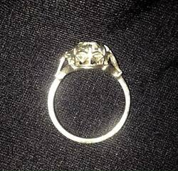 Old Witches Faith Handmade Ring  Natural Rock Crystal size US 7.5 UK P