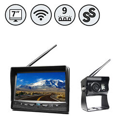 """Wireless Backup Camera System With 7"""" Monitor And Wired Camera Inputs Rvs-355w"""
