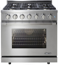 Dacor RNRP36GSNG  Renaissance 36 Inch Freestanding Gas Range  6 Sealed Burners