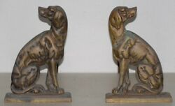 19th Century Cast Iron Shorthaired Pointer Andirons C.1880s