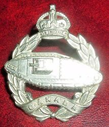 Cap Badges-canadian Ww2 Canadian Armourd Fighting Vehicle Training Center
