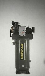 New 7.5hp Schulz V And W Air Compressor Two Stage Elec. 1 Ph 230 Vlt 7580vv30x-1