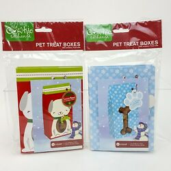 Cookie Exchange Pet Dog Puppy Treat Goodie Bag Gift Boxes w Window Qty 10 NEW