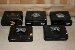 Lot Of 5 Camacho Wooden Cigar Boxes Black Various Sizes Empty