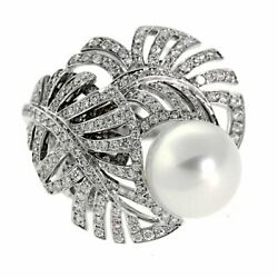 Chanel Pearl Diamond White Gold Ring (0000043)