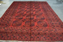 F2144 Antique Handmade Elephant Foot Pattern Area Rug /persian Area Rug 8and0396 X 11