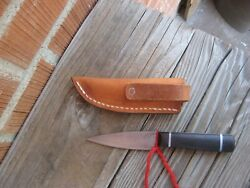 Antique 3 Blade Custom Carbon Paring Hunting Skinning Knife And Sheath Usa