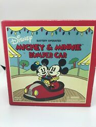 Schylling Disney Mickey Mouse And Minnie Mouse Bumper Car Toy