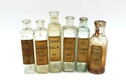 Antique Original Label Clear Glass Medicine Apothecary Bottles Late 1800s
