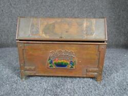 Museum Quality Arts And Crafts Copper Letter Box With Enamel Attr. Frank Marshall