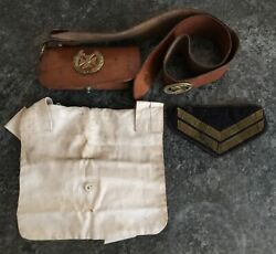C1900 The Church Lads Brigade Fight The Good Fight Badge Bag And Corporal Arm Band