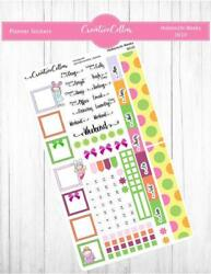 HW 0010 Cute Hand Drawn Planner Stickers Fits the Hobonichi Weeks $3.75