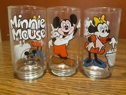 Vintage 1980s Disney Mickey Mouse Club Juice Glasses- 3 Piece Collection