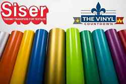SISER EasyWeed Heat Transfer Vinyl 12quot; x 5ft HTV 5 Foot Roll Free Shipping