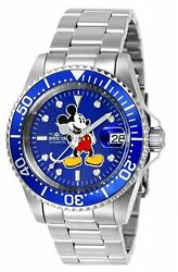 Invicta mens 24608 Disney  Automatic 3 Hand Blue Dial Watch