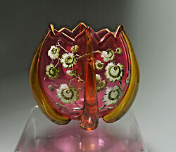 Stunning And Rare Signed Moser Art Glass Vase