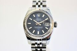 Rolex 179174 Datejust 26mm Stainless Steel Watch - Blue dial, 2009