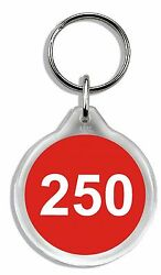 Sequentially Numbered Keyrings Car Hire / Rental
