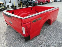 2017 2018 Ford F250 F350 Superduty 8and039ft Complete Bed Box Oem Red